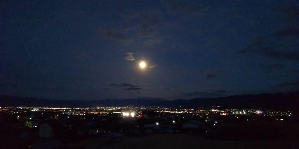 月が奇麗でした
