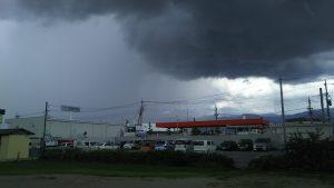 ゲリラ豪雨で、、、