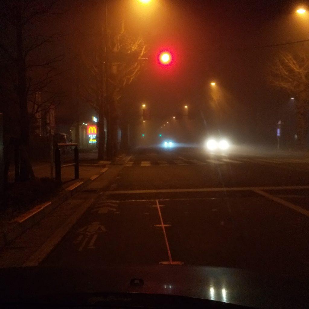 ほとんど前が見えない濃霧の時は・・・